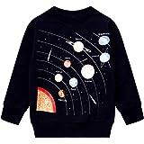 Boys Cartoon Sweatshirts Long Sleeve Crewneck Pullover Toddler Kids Winter Warm Shirt 3t-8t