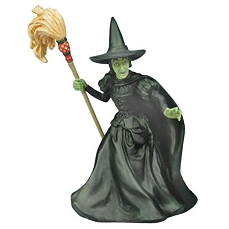 375 Inch Wizard Of Oz Wicked Witch Of West With Broomstick Figurine