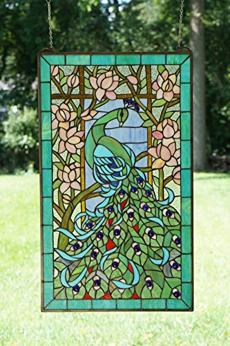 Peacock Stained Glass Panel - 20