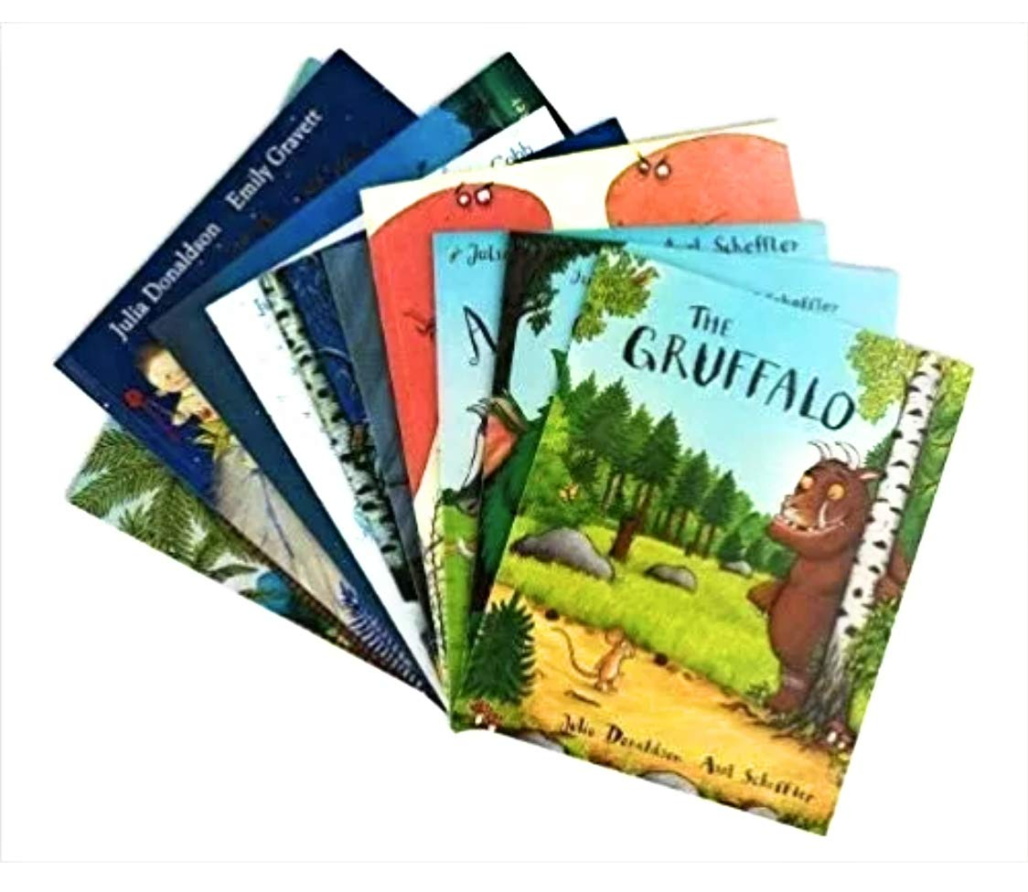 Julia Donaldson 10 Book Collection Set The Gruffalo The Gruffalo's Child  The Snail and the Whale Room on the Broom What the Ladybird Heard The Troll  Tyrannosaurus Drip: Julia Donaldson: 9781529020618: Amazon.com: