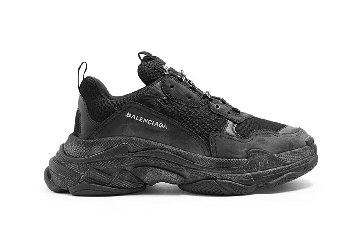28eb2877ea7 TOPSHOD Unisex Mens Womens Balenciaga Triple S Sneakers All Black  Amazon.co .uk  Shoes   Bags