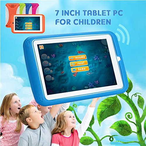 7'' Kids Tablet PC, Q798 Android 4.4 8GB ROM 512MB RAM Tablet Dual Camera WiFi USB Phablet Silicone Case by XINSC (Image #3)