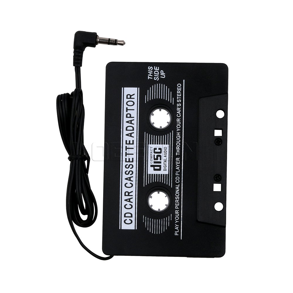 Cikuso 3.5mm AUX Car Audio Cassette Tape Tape Adapter Transmisores para MP3 IPod CD MD iPhone