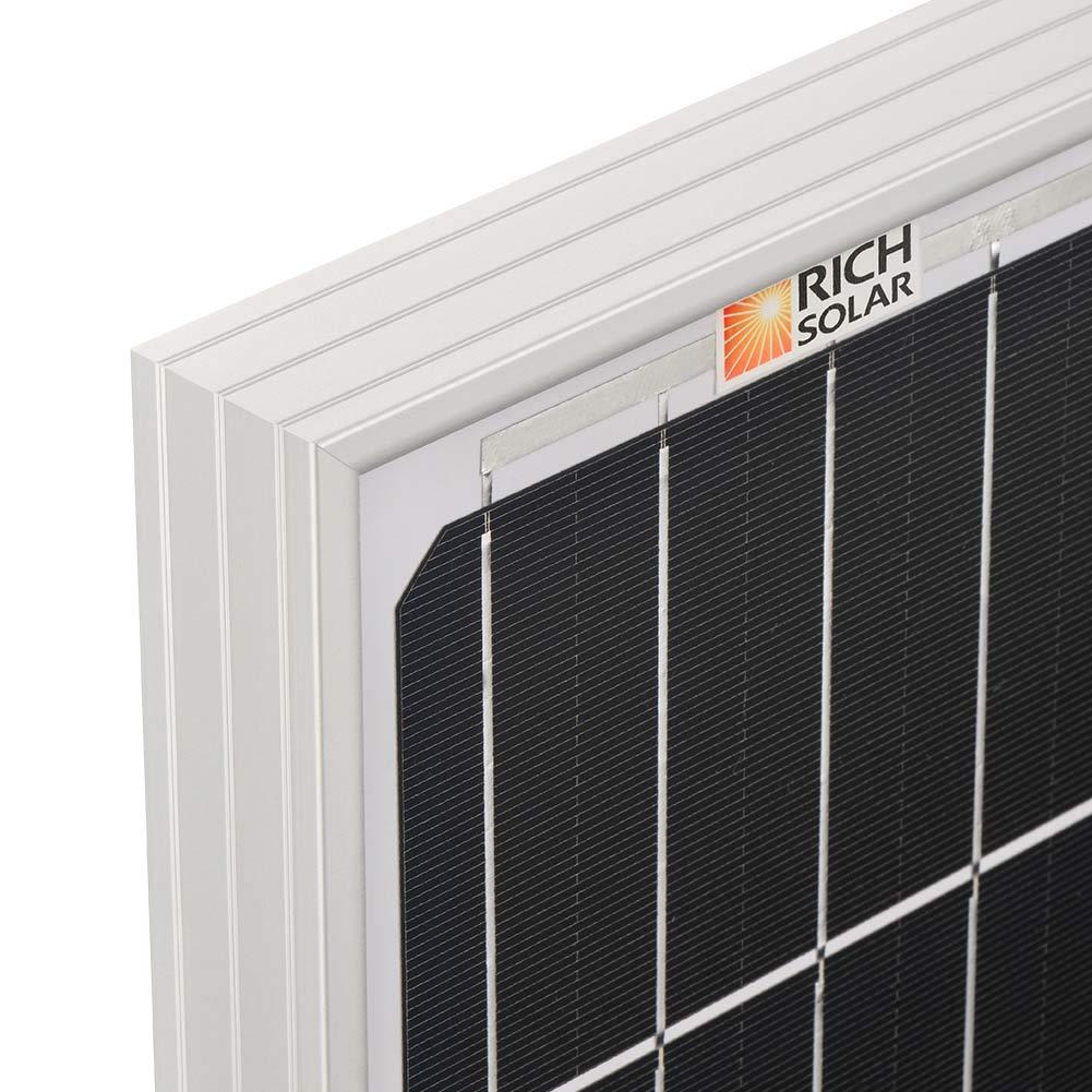 Richsolar 100 Watt 12 Volt Monocrystalline Solar Panel with MC4 Connectors 12 Volt Battery Charging RV, Boat, Off Grid (100W) by Richsolar (Image #6)