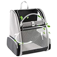 Texsens Pet Backpack Carrier for Small Cats Dogs   Ventilated Design, Safety Straps, Buckle Support, Collapsible   Designed for Travel, Hiking & Outdoor Use