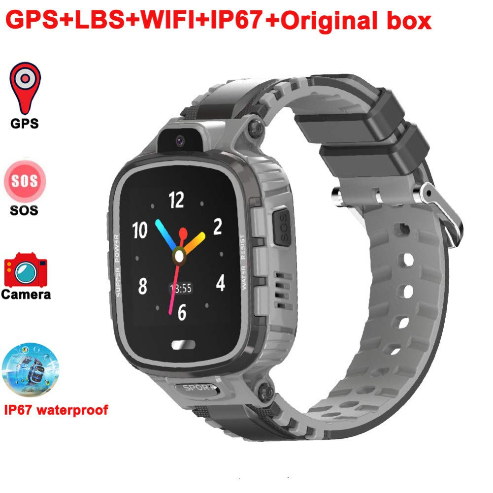 ZLOPV Pulsera Activa GPS Kids Smart Watch IP67 Impermeable ...