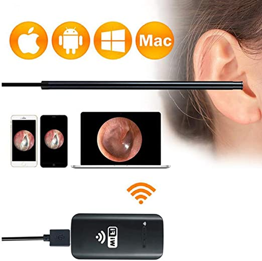 Sky God Endoscopio, WiFi Otoscopio de Limpieza de Oídos, Cámara de ...