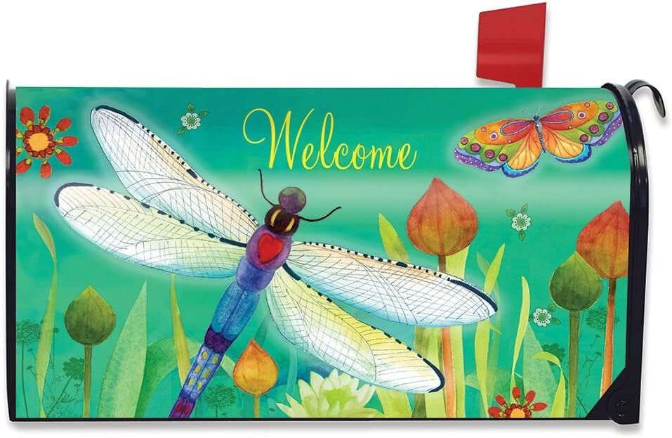Briarwood Lane Dragonfly Dream Spring Magnetic Mailbox Cover Standard