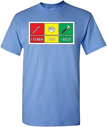 Tuerca de tornillo. Camiseta divertida camiseta, hombre Humor: Amazon.es: Libros
