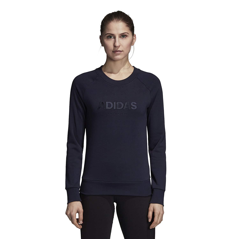 adidas Women's Essentials Allcap Sports Sweater, Variety (L, Legink) by adidas