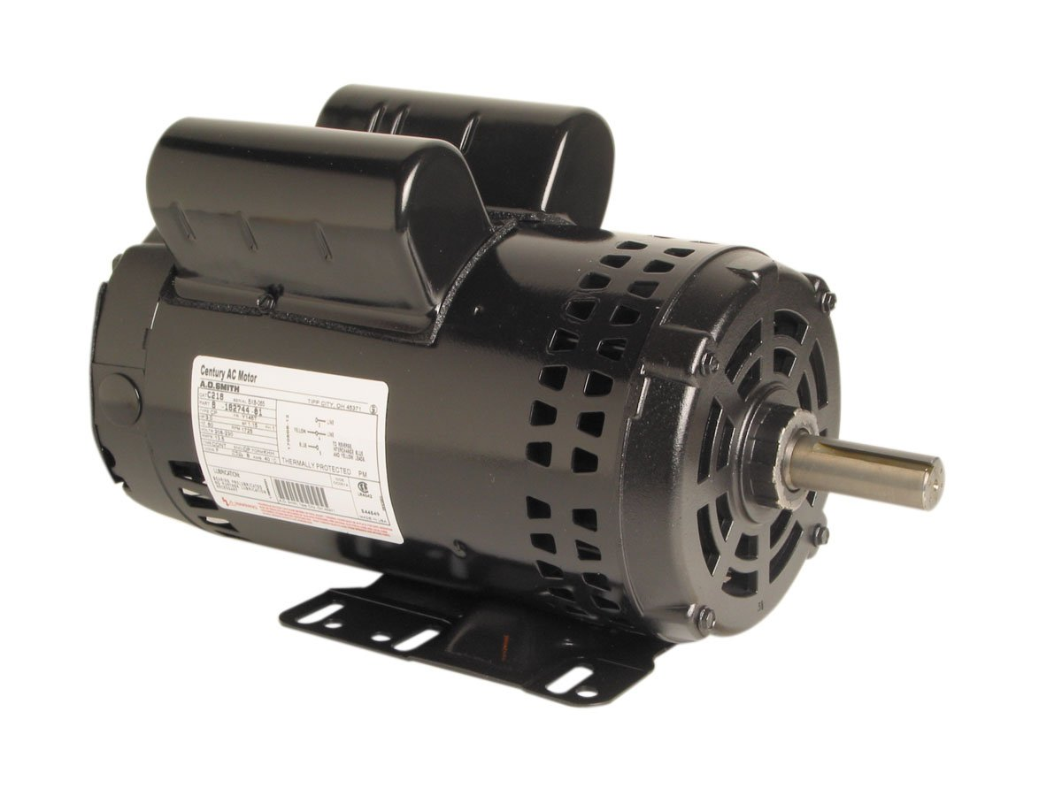 A.O. Smith V102 2 HP, 1725 RPM, 115/208-230 Volts, 145T Frame, ODP Enclosure, Ball Bearing Capacitor Start Motor