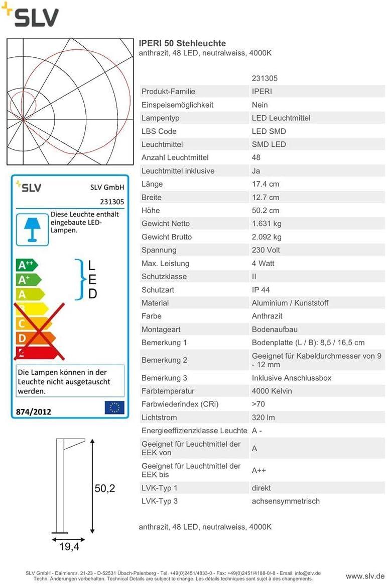 IPERI LED Standleuchte Stehlampe Aussenleuchte Aussenlampe Leuchte Lampe  231305