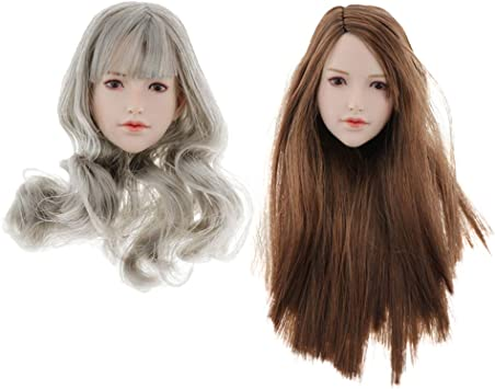 1:6 Weibliche Kopf Headsculpt mit Haar
