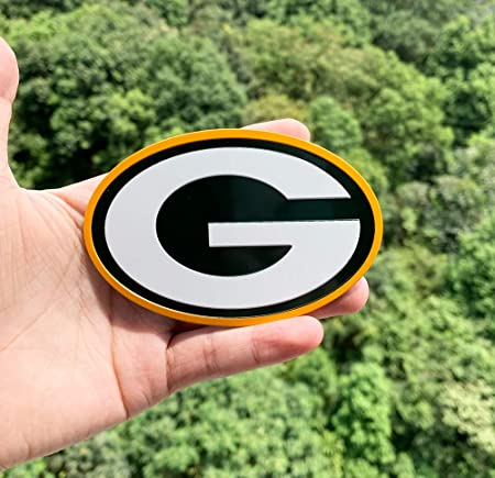 3pcs Metal Packers Green Bay Team Logo Stickers Packers Sticker Computers and Other Arbitrary Positions. Used for car Stickers Door Stickers