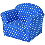 Blue Wood frame+ cotton Kid Armchair With Ebook