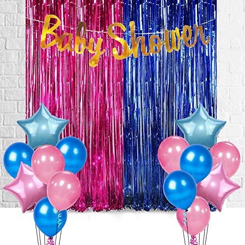 Party Propz 17Pcs Baby Shower Decoration Material Combo for Baby Shower Banner, Baby Shower Props for Decoration