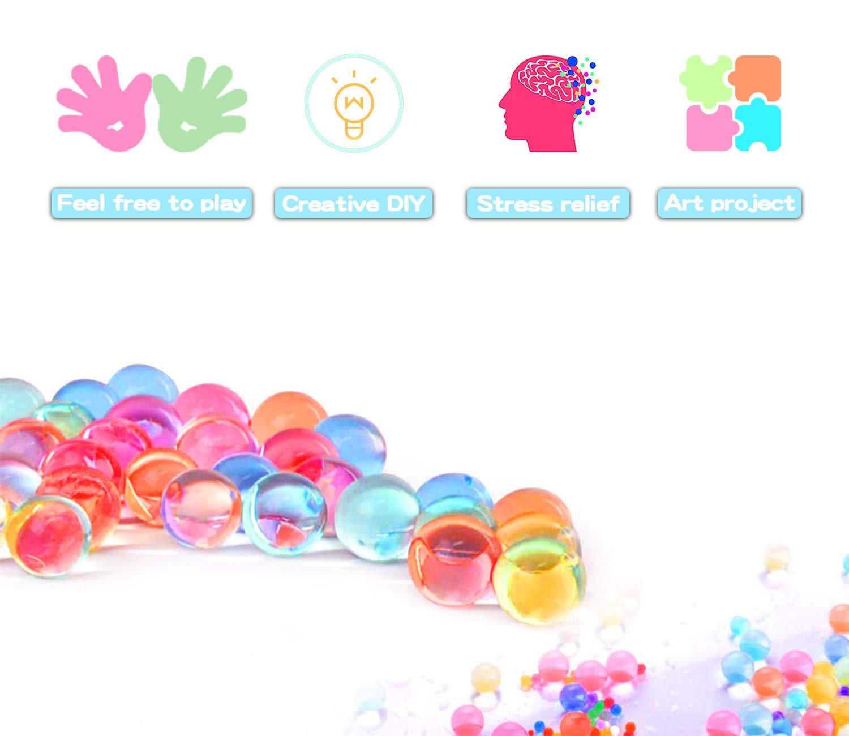 Palline Gel LOVEXIU 24 Packs Acqua Gel Water Beads Perle dAcqua Colorate Acqua Gelatina Sfere per riempire Il Vaso per la casa e la Decorazione di Nozze Acqua Perline Gel per Piante