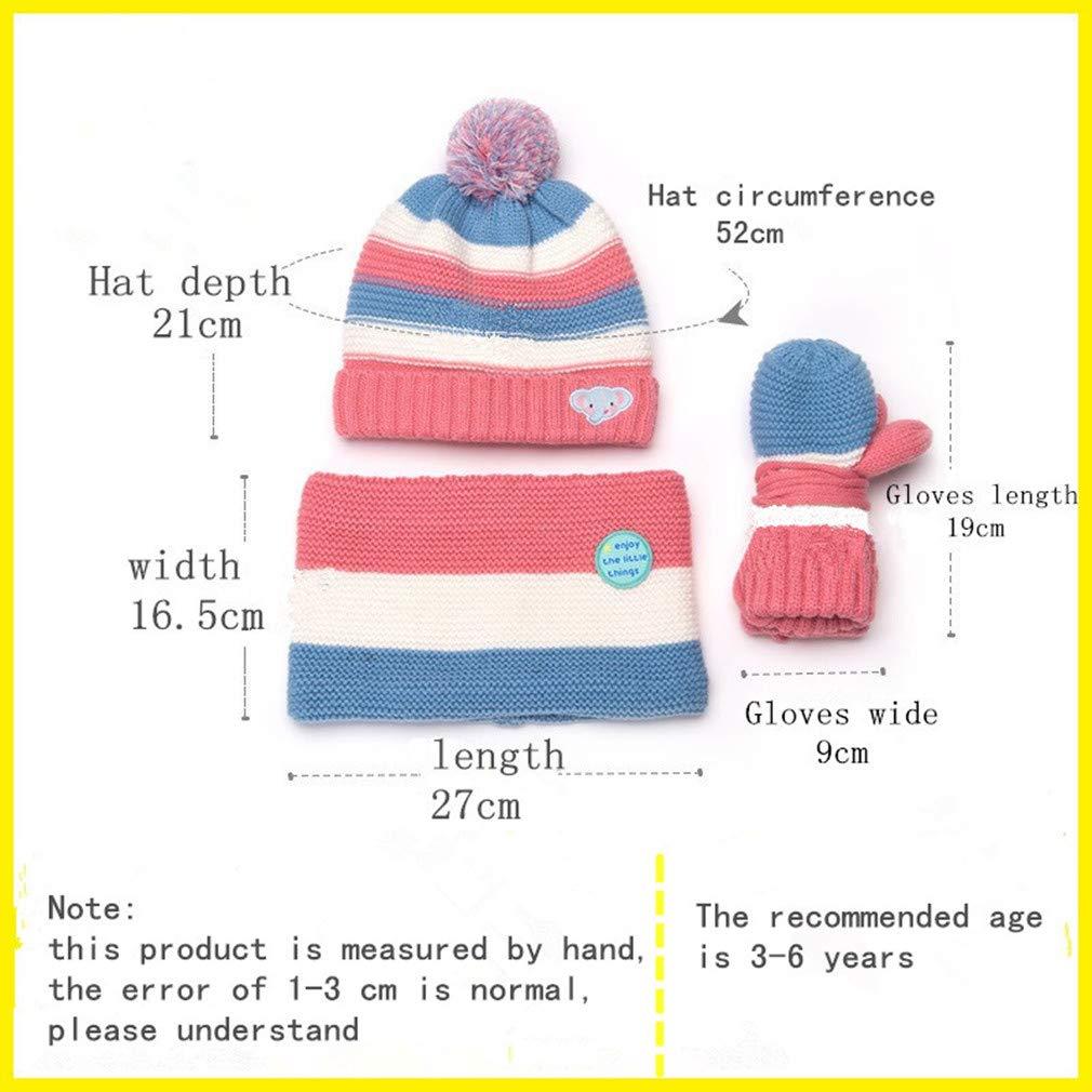 Childrens winter hat gloves scarf set of 3