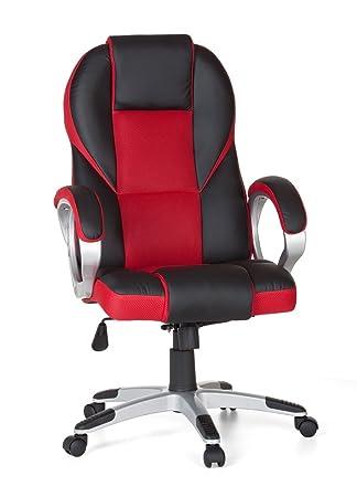 AMSTYLE - Silla Race Rojo Gaming Racer de Oficina giratoria 120 kg Mecanismo de sincronización Escritorio Silla: Amazon.es: Hogar