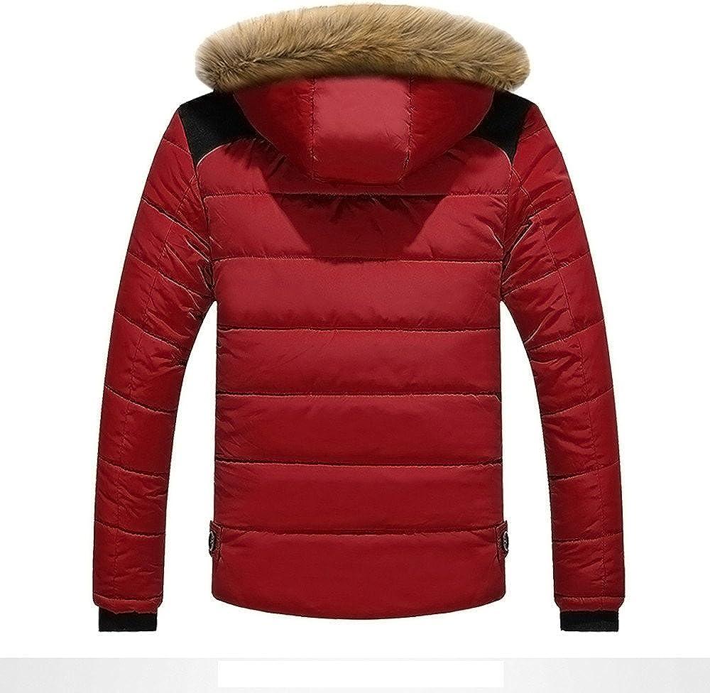 Batnott Men Outdoor Warm Winter Thick Jacket Plus Fur Hooded Coat M/änner Jacket Herren Schwarz Steppjacke gef/üttert mit Kapuze