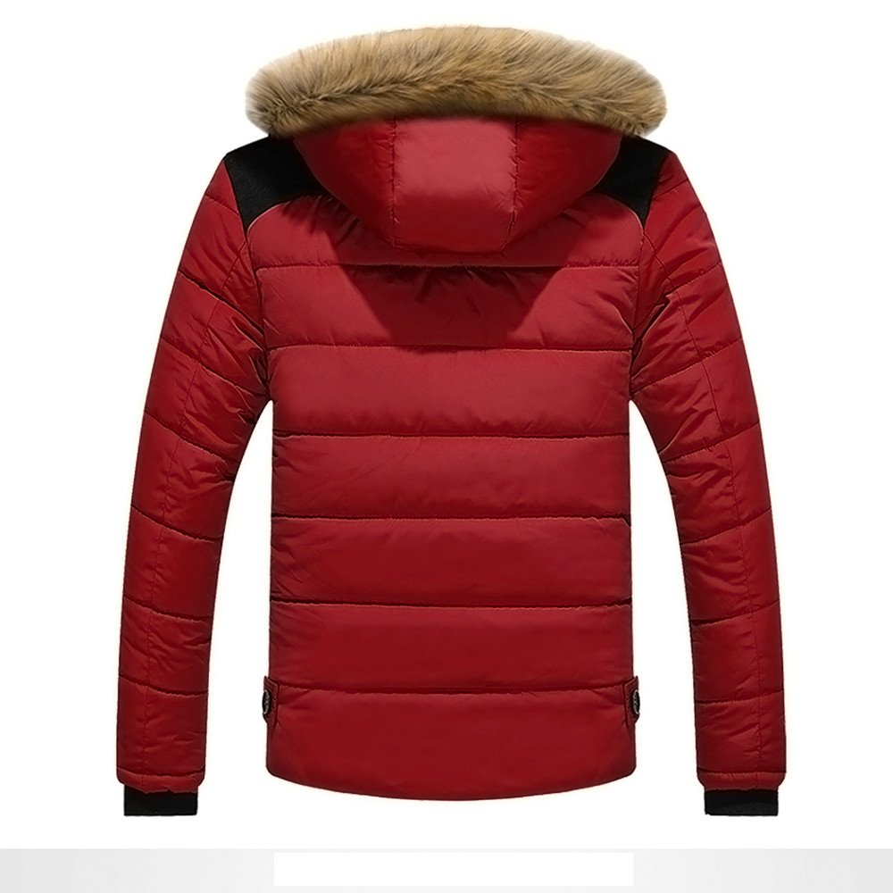YunYoud Herren Jacken M/änner Draussen Warm Winterjacke Winter Dick Mit Kapuze Mantel Gro/ße Gr/ö/ße Pelz Jacke Beil/äufig Rei/ßverschluss Steppjacke Mode Sweatjacke