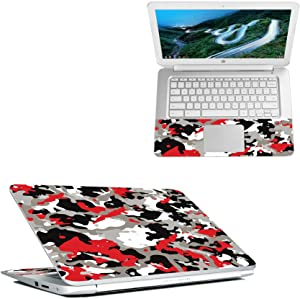 """MightySkins Skin Compatible with HP Chromebook 14"""" (2018) - Red Camo 