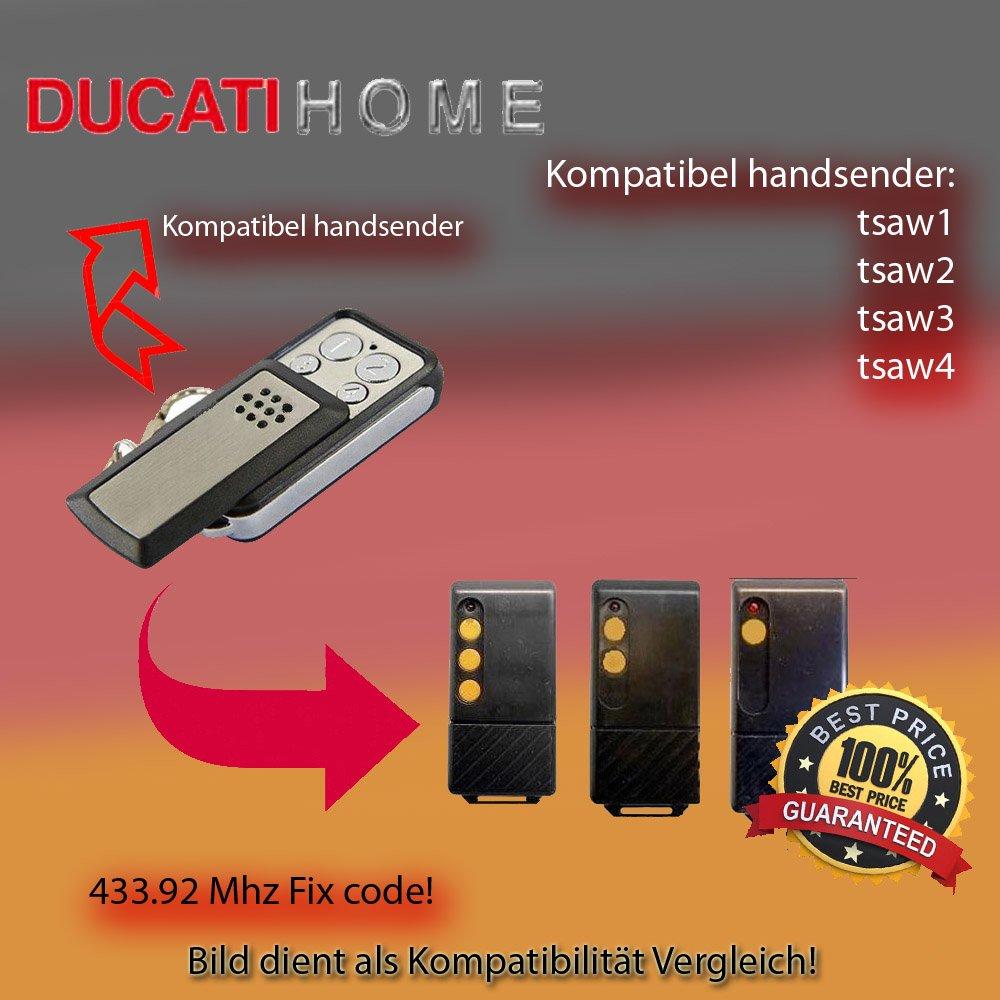 DUCATI TSAW1, TSAW2, TSAW3, tsaw4compatible émetteur manuel de rechange, klone