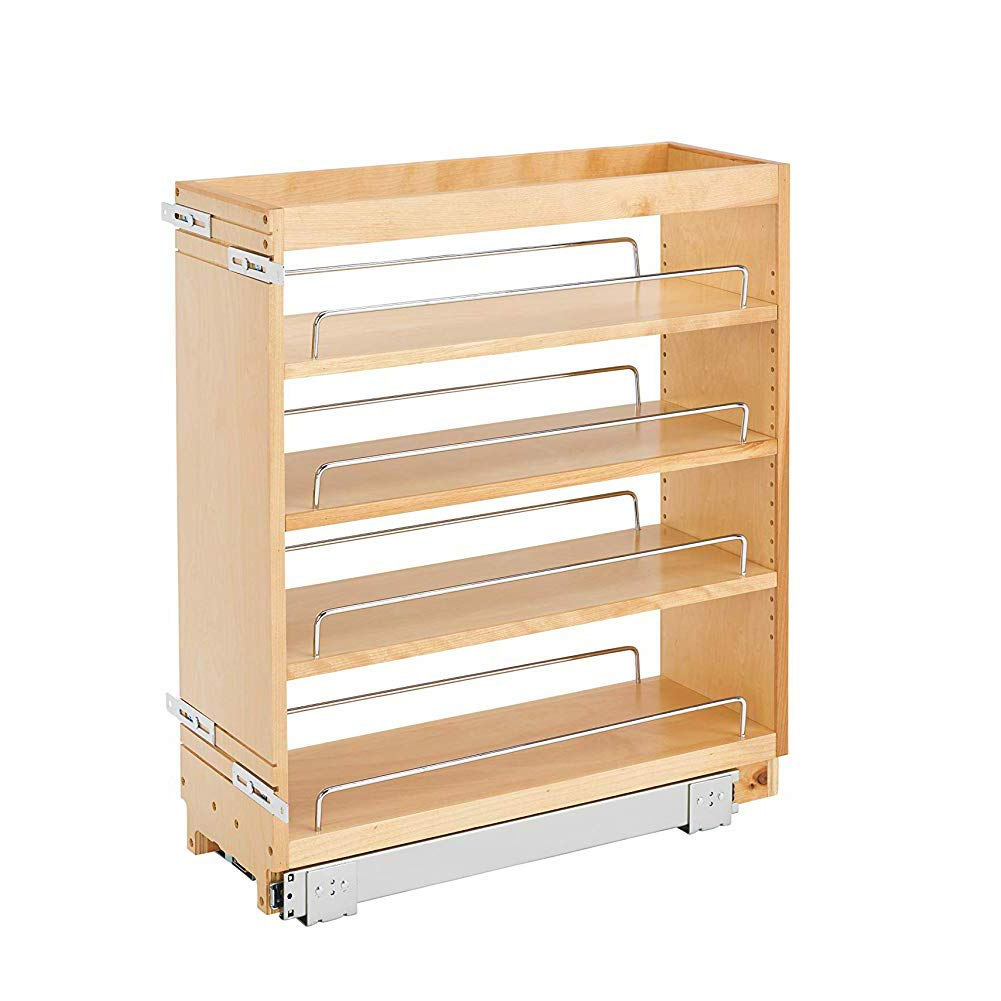 Rev-A-Shelf 448-BC-8C Base Cabinet Pullout Organizer w/Wood Adjustable Shelves by Rev-A-Shelf