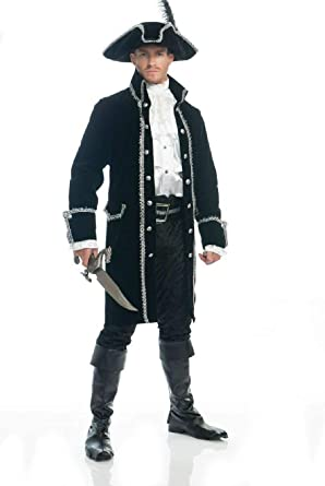 ADULT MENS COLONIAL RUTHLESS PIRATE PRINCE COSTUME COAT JACKET CAPTAIN HOOK
