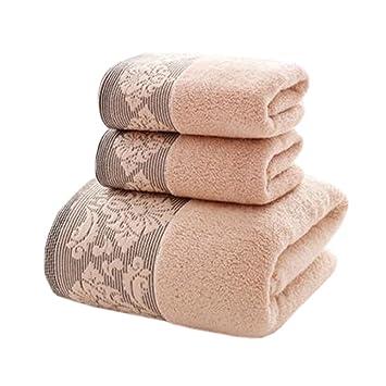 3 pcs Hogar regla toalla de playa toalla de baño toalla de mano toallas de elegante de traje rosa: Amazon.es: Hogar