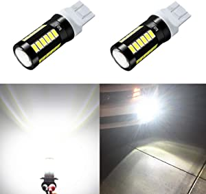 Alla Lighting 2800lm 7440 7443 LED Bulbs Xtreme Super Bright T20 7441 7442 7444NAK LED Bulb 5730 33-SMD Car Back-Up Reverse,Turn Signal,Brake Stop Lights TailLights DRL, 6000K Xenon White