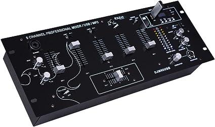 Ibiza Djm90usb Table De Mixage Noir Amazon Fr Instruments De Musique