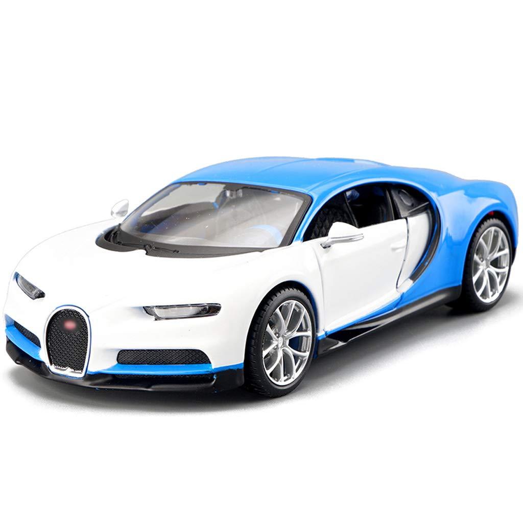 DUWEN-Modelo de coche Bugatti Veyron Modelo de Coche Deportivo 1:24 Aleación de emulación de Juguete Modelo de Coche Regalo Colección