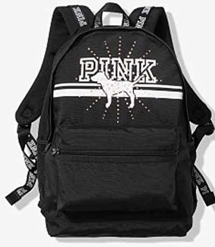 c1beae3d0c VICTORIA SECRET - SOLD OUT - RARE SPARKLE BLING. SILVER AND BLACK WITH  BLING PUP CAMPUS BACKPACK Made by PINK   Everything Else