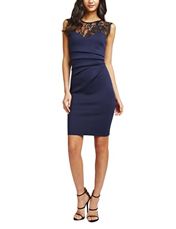 2c1b31cdd811 Lipsy Damen Schlauch Kleid blau blau 30: Amazon.de: Bekleidung