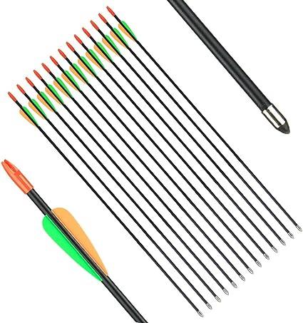 12pcs High Quality Fiberglass Arrow  hunting Target Practice Arrow 28inch New