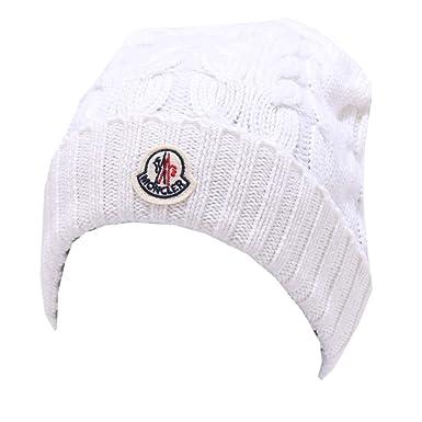 71046413820e MONCLER 3440Y cuffia bimba girl wool white beanie hat  L (40 CM)    Amazon.fr  Vêtements et accessoires