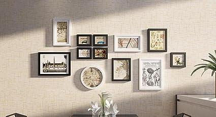 GZD Decoración de pared colgante Muro de fotos Madera maciza ...