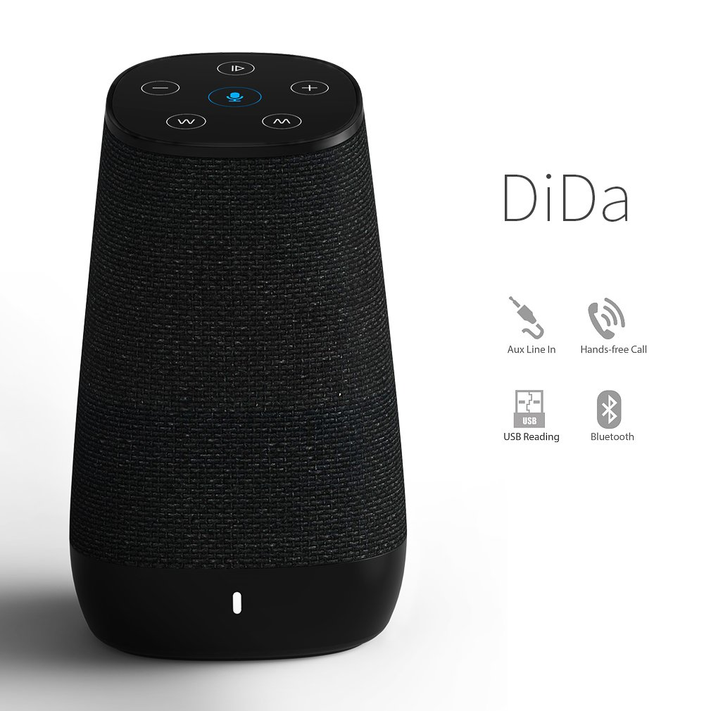 COWIN DiDa with Amazon Alexa Bluetooth Speakers, Smart Wireless Wifi Portable Bluetooth Speaker 15W Output Power with Enhanced Bass- Black by COWIN (Image #2)