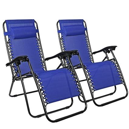 Amazon.com: ZotoyaShop 2 x Zero Gravity sillas de playa al ...