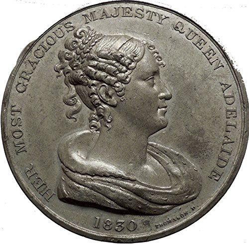 1830 British United Kingdom Hanover King William IV MEDAL Queen Adelaide - United Store Adelaide