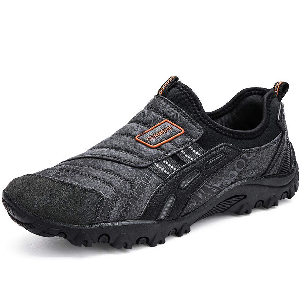 marron EU40 250mm UK6.5 QAZW Chaussures de randonnée Chaussures à pédales d'extérieur pour Hommes avec Chaussures antidérapantes- idéales Unisex la Marche et la randonnée gris-EU42 260mm UK8