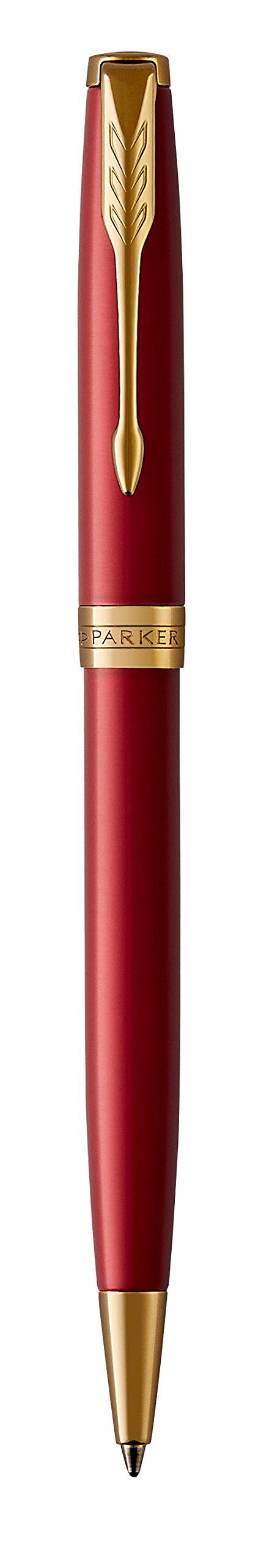 PARKER Sonnet Ballpoint Pen, Red Lacquer with Gold Trim, Medium Point Black Ink (1931476) by Parker (Image #5)