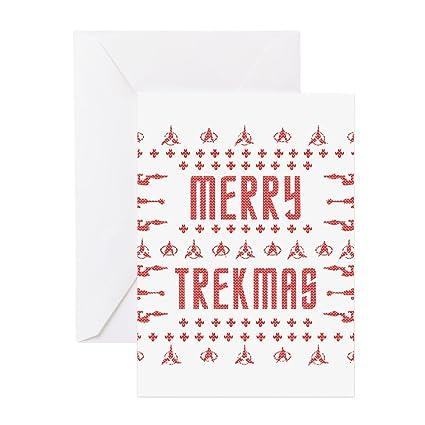 cafepress merry trekmas star trek ugly christmas greeting ca greeting card note card