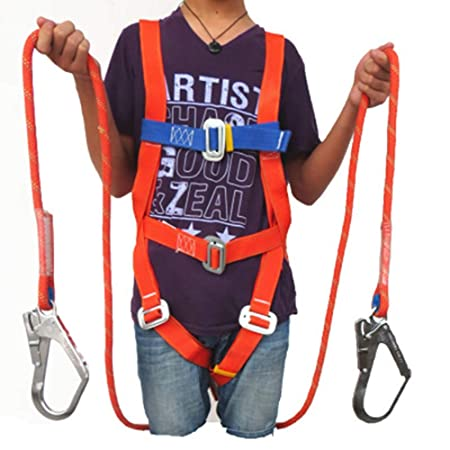 MFZTQ Safety Harness Kits,Harness with 2 Link Points + Lanyard ...