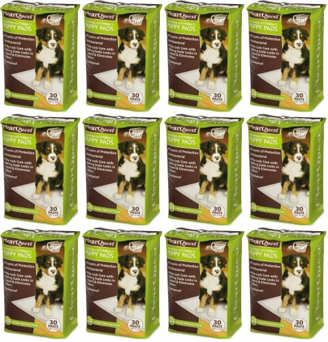 ClearQuest Max Absorbency Puppy Pads 22'' x 23'', 360ct (12 x 30ct)