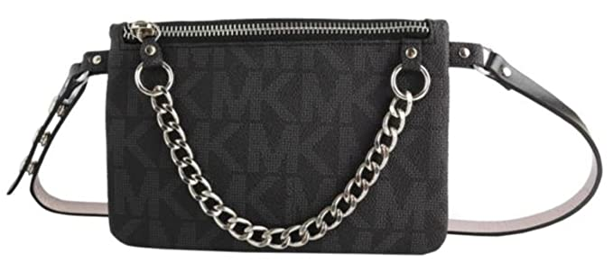 48dfa2d043a2 Image Unavailable. Image not available for. Color  Michael Kors MK Fanny  Pack Belt With Pull Chain ...