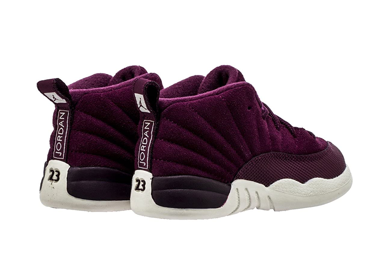 lowest price d9b5a 92fe3 Nike Air Jordan 12 Retro BT Toddler's Basketball Shoes  Bordeux/Sail-Metallic Silver, 7