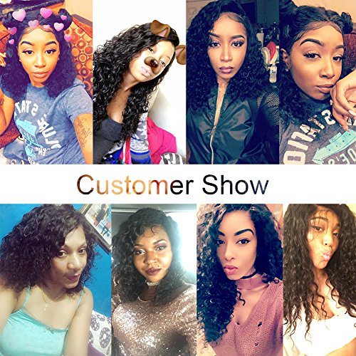 JAHUI Hair 8A Full Lace Human Hair Wigs for Black Women Wet Wavy Brazilian Virgin Hair Glueless Lace Front Wig with Baby Hair (12inch with 130% density, Full Lace wigs) by JAHUI Hair (Image #8)