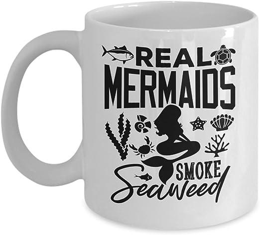 Mermaids Smoke Seaweed Coffee MugMermaid MugFunny Mermaid MugTravel Mug